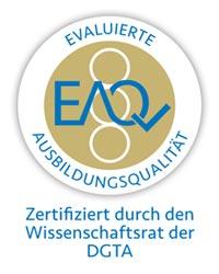 Evaluierte Ausbildungsqualität in Gold - Zertifiziert durch den Wissenschaftsrat der DGTA